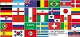 FRIP - Fahnen SET alle 32 Teilnehmer der Weltmeisterschaft 2018, Fahnen Flaggen Gr. 1,50x0,90m cm WM Deko 'normal' mit Gratis Fahne Vorwärts Russland