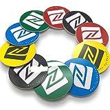 10 NFC Tags | NXP Chip NTAG215 | 504 byte di memoria | Adesivi rotondi in colori misti | PVC Rigido...