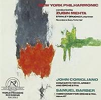 John Corigliano: Concerto for Clarinet; Samuel Barber: Third Essay for Orchestra
