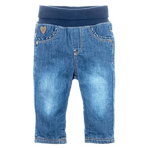 Feetje Baby-Mädchen Jeans Slim fit Winter Denim - gefütterte Jeans, Blue Denim, 74