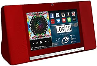 """Azpen A760 7"""" Audio Quad Core Android Tablet with Bluetooth Speaker (Red)"""