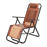 IVNGRI Chaises Pliantes Rotin inclinable inclinable Chaise Pliante Loisirs Chaise inclinable Pliant déjeuner Pause déjeuner Pause Chaise Pliante Chaise Siesta Chaise 30 pour Cent de Glace Glace Ronde