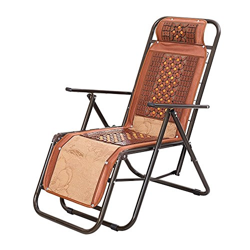 NYDZDM Sillón reclinable de mimbre reclinable silla plegable silla de ocio reclinable almuerzo almuerzo descanso silla de almuerzo silla plegable silla de siesta 30 por ciento de seda de hielo redondo