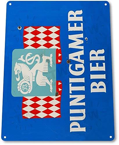 SIGNCHAT Targa in Latta con Scritta Puntigamer Bier, Decorazione da Parete per Bar, Pub, Negozi di Birra, A152, 20,3 x 30,5 cm