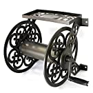 Liberty Garden 708 Steel Decorative Wall Mount Garden Hose Reel, Holds 125-Feet of 5/8-Inch Hose - Bronze