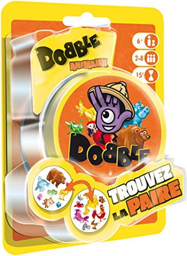 Asmodee Dobble Animaux Blister, DOAN02FR, Jeu d'ambiance