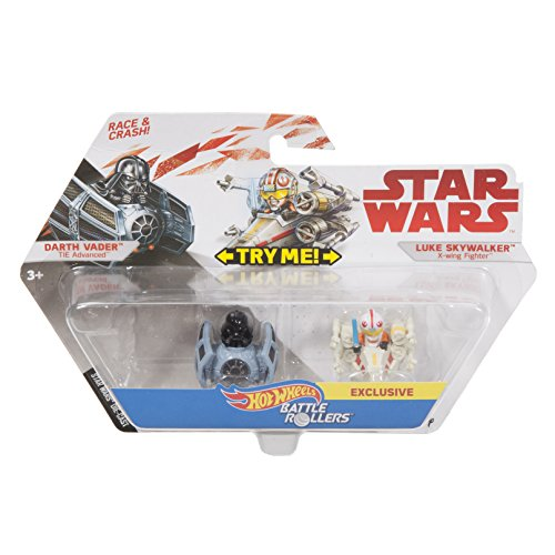 Star Wars Hot Wheels Battle Rollers Darth Vader Luke Skywalker