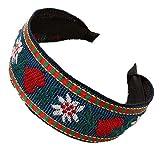 VEED Estilo étnico fresco mujeres rural chica ancha diadema colorida floral bordado vintage aro...