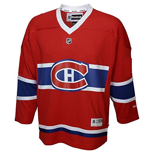 Reebok Montreal Canadiens Blank Red LNH Kids 4-7 Home Replica Jersey