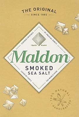 Organic Maldon Smoked Sea Salt 125 g (Pack of 4) from Maldon Crystal Salt Company Limited