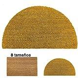 LucaHome - Felpudo de Coco Natural 40x70cm semiluna con Base Antideslizante, Felpudo de Coco Liso. Felpudo Absorbente Entrada casa, Ideal para Puerta Exterior o Pasillo