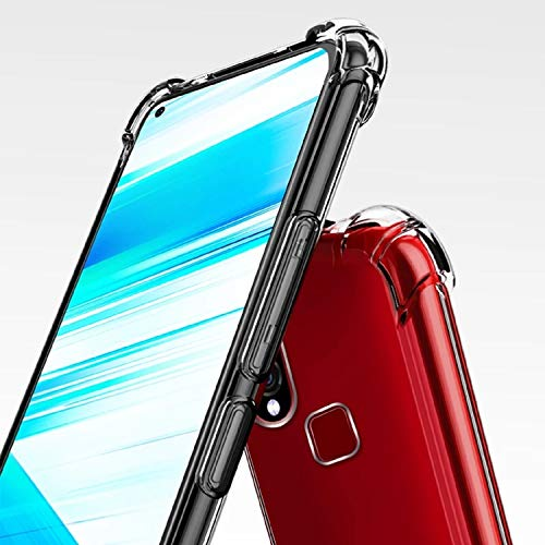 Ankirant BumperCorner Soft Silicon Shockproof Flexible Rubber Back Case Cover for Vivo Z1 Pro (2019) (Transparent)