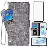 Asuwish Étui portefeuille compatible avec OnePlus 8 OnePlus8 5G UW Tmobile avec protection d'écran...