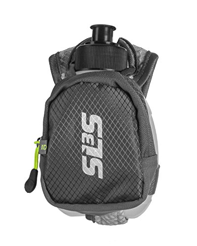 Small Running Water Bottle Handheld - Hand Held Bottle for Runners - 10oz Hydroquick - Hand Flask - Zippered Pocket | German Designed SLS3