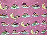 Disney Baby Minnie & Mickey Mouse & Donald Duck rosa Stoff,