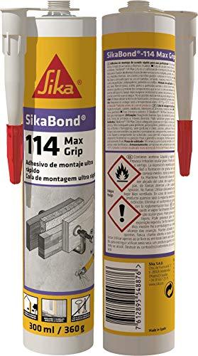 Sikabond 114 Adhesivo de montaje, de curado rápido, Marrón, 300 ml