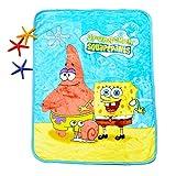 HOLY HOME Children's Flannel Fleece Blanket Throw Anime Figures 60'x80' Spongebob
