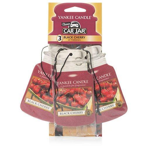 Yankee Candle 1137658E Deodoranti per Auto, Car Vaso Bonus Pacchetto di 3, Black Cherry