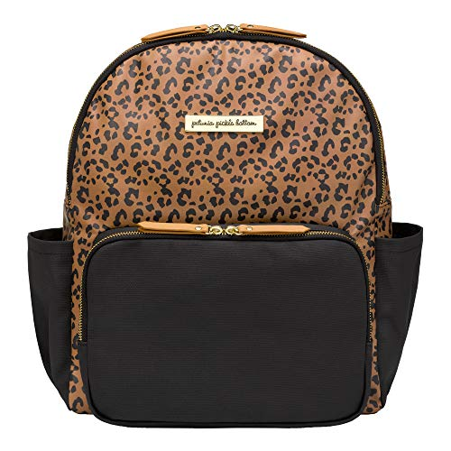 Petunia Pickle Bottom District Backpack | Baby Bag | Baby Diaper Bag for Parents | Baby Backpack Diaper Bag | Stylish, Spacious Backpack for On-The-Go Modern Moms & Dads | Shower Gift | Leopard/Black