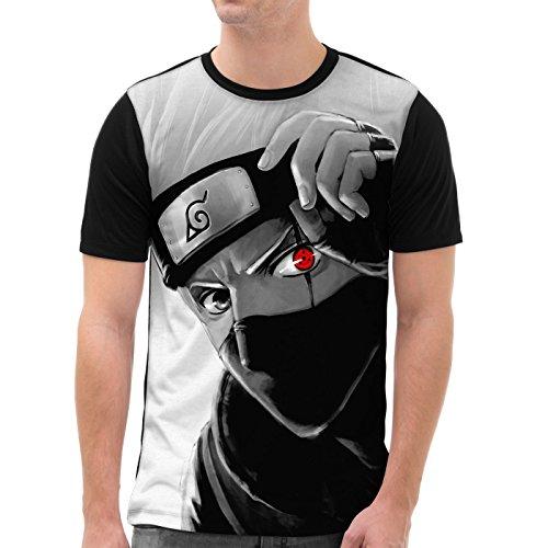 VOID Kakashi Hatake T-Shirt Herren All-Over Druck Ninja Anime Manga, Größe:XXL