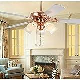 Qinmo Ventilador de techo se enciende, luz de techo del ventilador de 52 pulgadas LED del control remoto for uso doméstico, industrial estilo americano lámpara de techo for la sala de estar y dormitor