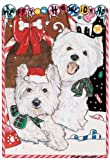 West Highland Terrier Christmas Cards : 10 Holiday Cards with Envelopes - ADORABLE!