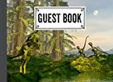 """Guest Book: Dilong Dinosaurs Cover Guest Book, Guest book for Your Birthday Party, Anniversary, Bridal Shower, Visitors - 150 Pages, Size 8.25"""" x 6"""" by Simone Bach"""