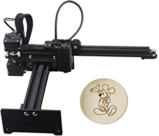 Laser Engraving Machine - 3500mw Desktop Laser Engraver Machine DIY Logo Laser Engraver (3500mw) (Machine(Black))