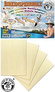 Corvus 600556 Birch Plywood A4 4 Pieces, Wooden Color