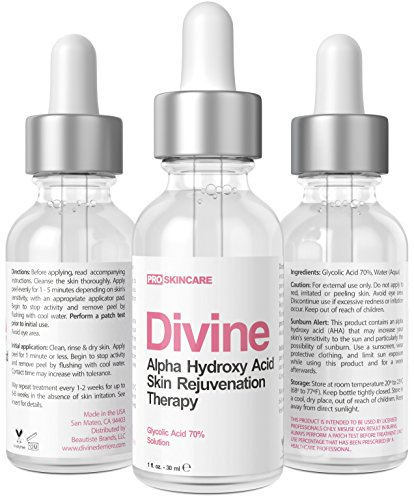 DIVINE Glycolic Acid 70% Anti-Aging AHA Facial Peel Gel, 1 fl oz