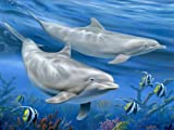 McGowan's TufTop Dolphins Tempered Glass Cutting Board. 12 by 9 inches.