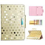 7-inch Tablet Universal Case, Techcircle Stand Folio Leather Flip Cover Book Protective Wallet