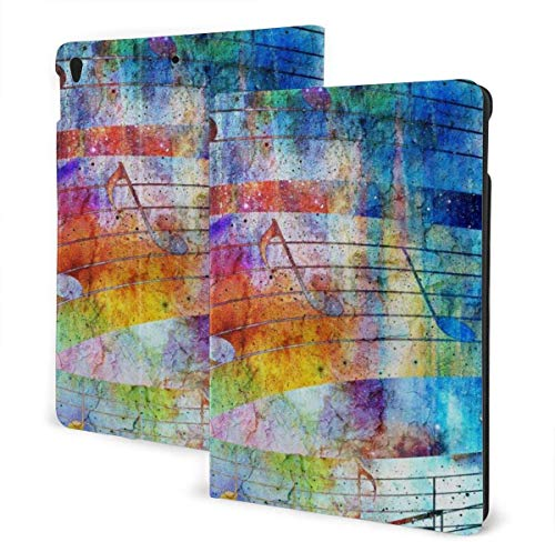 Hedgehog Art Design Case for Ipad Air 3rd Gen 10.5' 2019 / Ipad Pro 10.5' 2017 Multi-Angle Folio Stand Auto Sleep/Wake for Ipad 10.5 Inch Tablet-Hexagon With Water Color Marble Grunge Textures-One Si