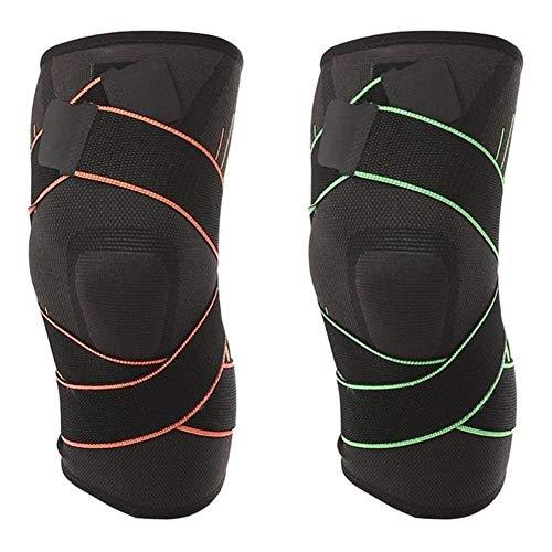 Kniebandage Sport Sicherheit Knieschützer Brace Gym Gewichtheben Knie Wraps Bandage Straps Guard Kompressionspolster Hülse Sportschutz (1 STÜCK) knee active plus (Color : Orange, Size : S)