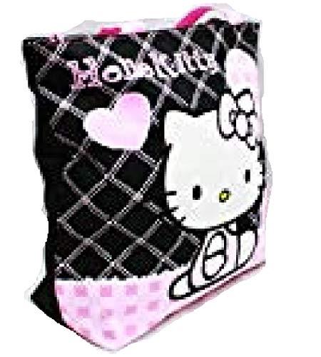 Sac fourre-tout – Hello Kitty – Cœur Noir Checker New Gifts Girls Sac à main à la main 81587–2