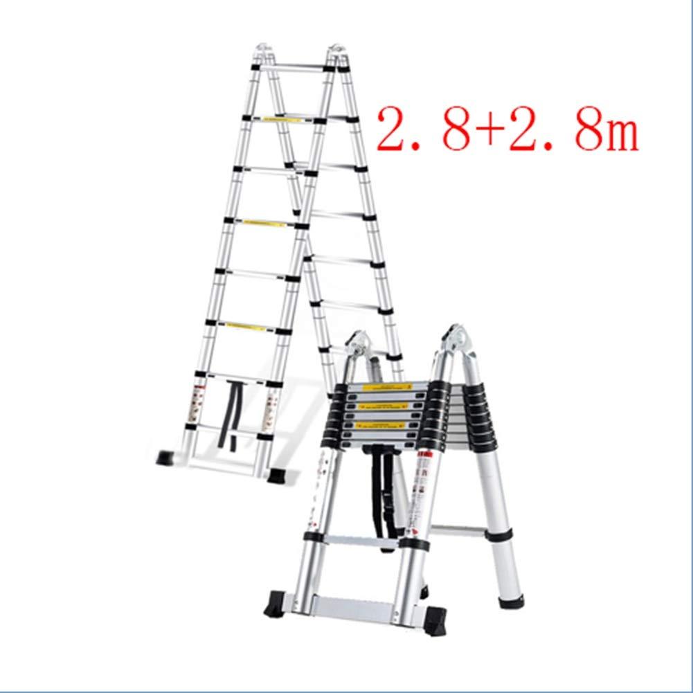 YIXINY escalera multifunción de ingeniería, escalera de aluminio de 1,6 + 1, 6 m, escalera telescópica portátil: Amazon.es: Bricolaje y herramientas