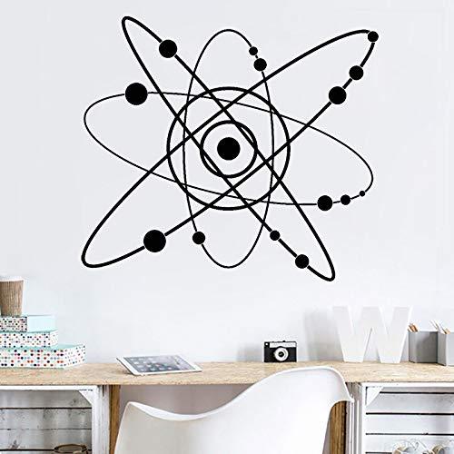 Abkbcw Química átomo Laboratorio PVC Tatuajes de Pared Ciencia Escuela Ciencia Aprendizaje Pegatinas decoración de la habitación 64x57 cm