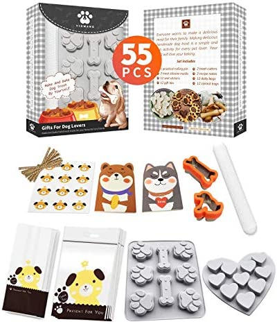 YIGWANG 55 Pcs Dog Treat Maker Make Your Own Dog Treats Kit for Kids Including 2 Dog Treat Cookie product image