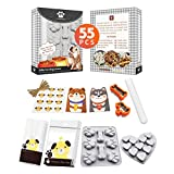 YIGWANG Dog Bone Cookie Cutter, Dog Cookie Cutters for Treats,Dog Treat Molds Kit, 55 Pcs in 1 Kit, Dog-Lovers-Gifts, Including 2 Dog Treat Cutters, 1 Dog Paw Silicone Mold, 24 Dog Treat Bags, etc.