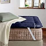 Cloth Fusion FluffyCloud 600 GSM Hotel Quality Microfiber Mattress Topper/Padding for King Size Bed...
