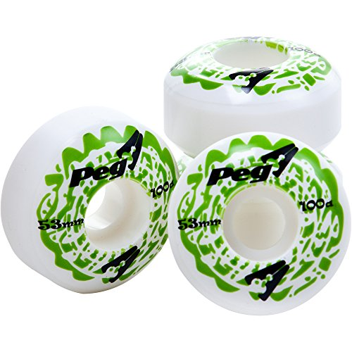 PEG Skateboard Wheels 53mm x 31mm - Green by PEG