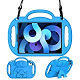eTopxizu Kids Case for New iPad Air 4th Generation 10.9 Inch 2020, 10.9' iPad Air 4 Light Weight Shock Proof Friendly Handle Kids Stand with Shoulder Strap for 2020 iPad Air 4 10.9/iPad Pro 11, Blue