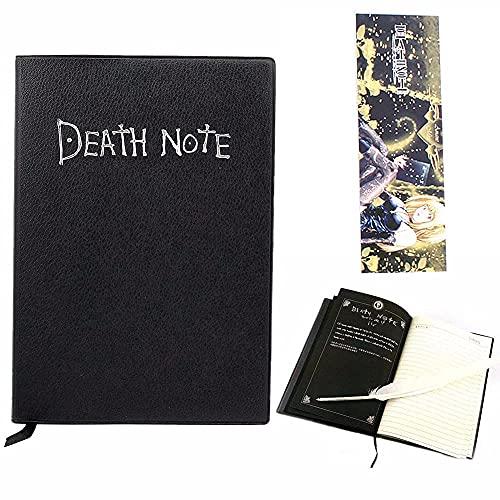 Cuaderno de notas de la muerte con pluma de plumas, tema de anime de moda, cuaderno de cosplay, el mejor regalo para los amantes de cosplay, se puede utilizar como diario y cuaderno