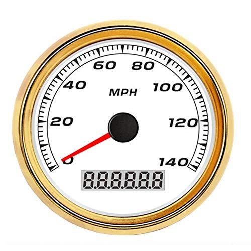 Dhmm123 Digital GPS Tachometer Kilometerzähler Meter 140MPH for Auto Motorrad LKW 3 3/8