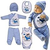 QAR7.3 Ropa Bebe Recien Nacido - 5 Piezas para Niños 0-3 Meses, Talla 56 - Azul