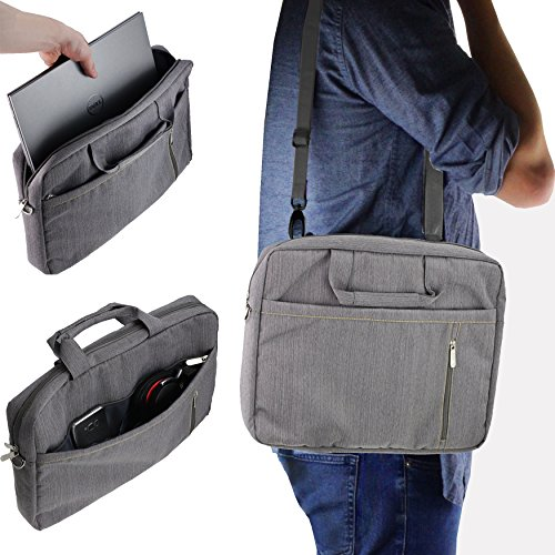 "Navitech 17"" Grey Laptop Bag with Shoulder Strap MSI GT75 TITAN-055"