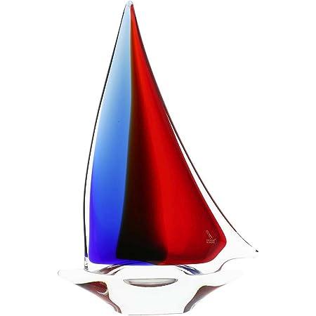 Red Blue Amber GlassOfVenice Murano Glass Tropical Fish