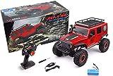 MODELTRONIC Crawler RC Jeep Wrangler SUV WLtoys 104311 Escala 1/10 2.4G tracción 4x4 RTR Color Rojo