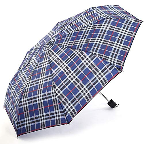 Ombrello di colore casuale tri-pieghevole pioggia giorno ombrello accessori anti-UV ombrello di stoccaggio antipolvere ombrello ombrello Dingling gatto (colore : Borgogna)