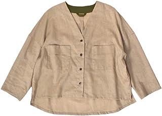 (ノンブルアンペール)NOMBRE IMPAIR ライトキャンバスワッシャールーズシャツ 01-1-06-230-9-1